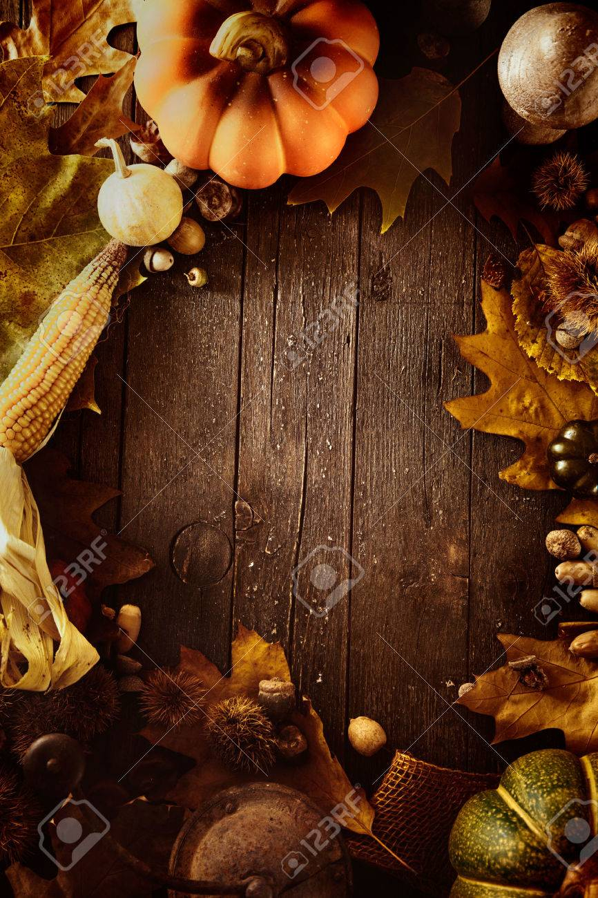 Thanksgiving background. Autumn fruit with Thanksgiving letters. Thanksgiving dinner - 46774821
