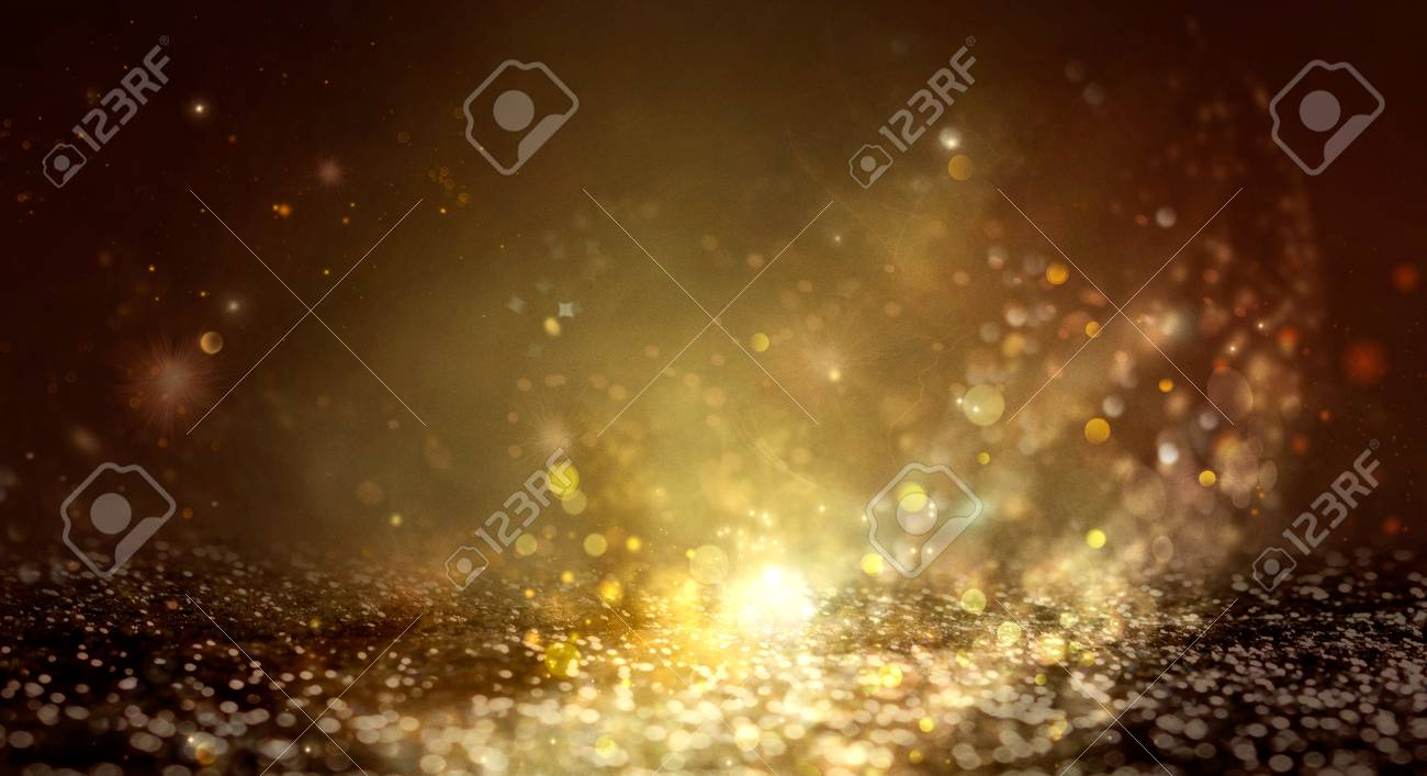 New Year Background. Greeting Card abstract defocused Background With glowing Stars. Blurred Bokeh. Blurred background - 110262905