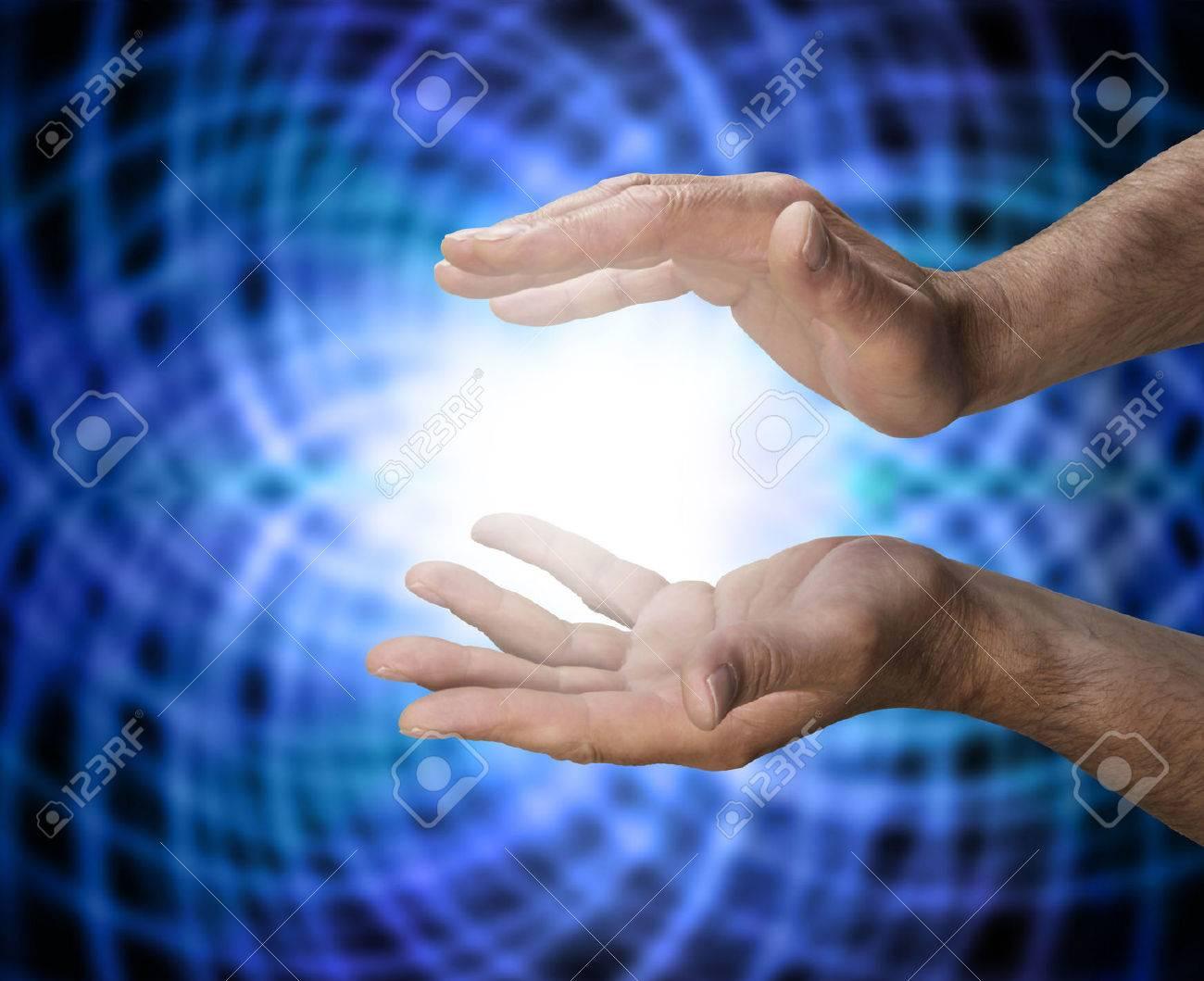 Male healer with matrix energy Stock Photo - 28872820
