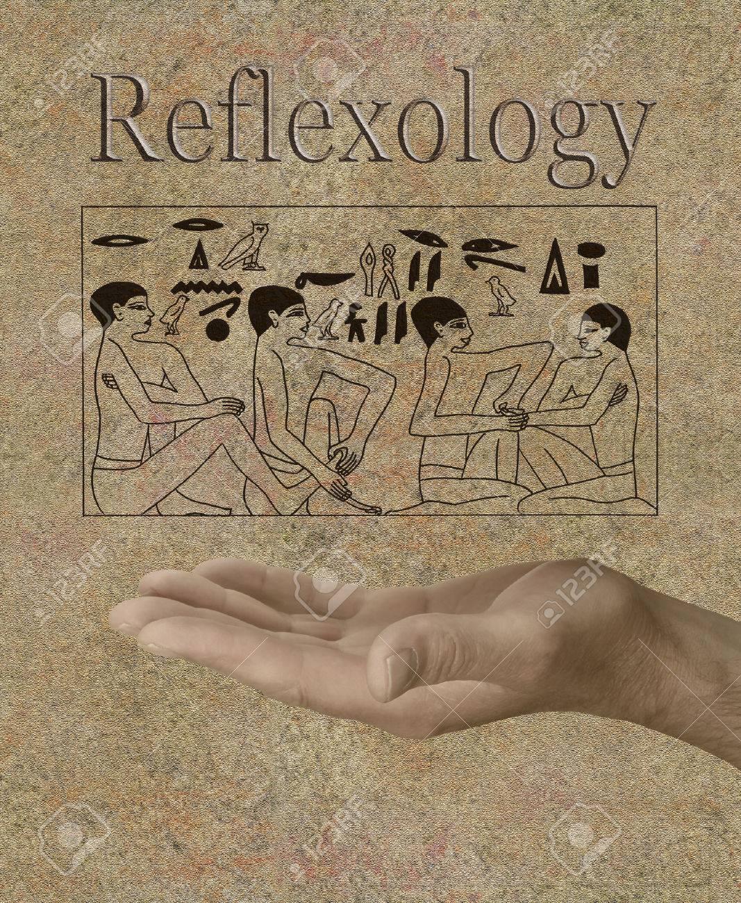 Reflexology depicted in Ancient Egyptian Hieroglyphics