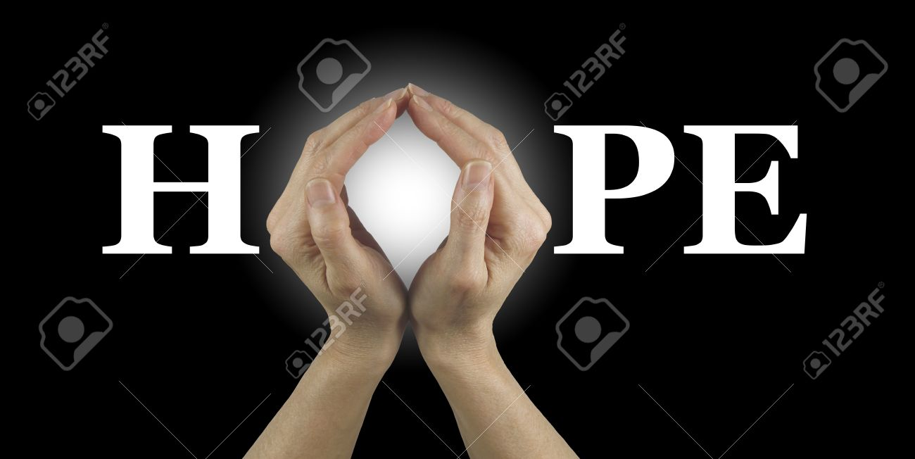 Have Some Hope Female Hands Making An O Shape In The Word