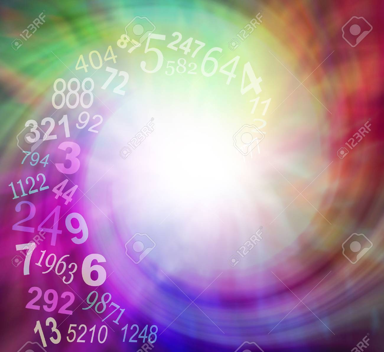 Image result for spiraling numbers