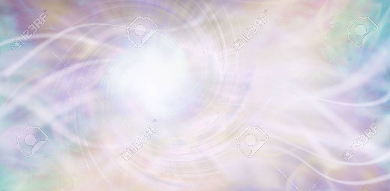 Streaming ethereal energy background - streams of white light and a central white vortex light area with a random pattern of aqua, purple, pink and light golden yellow - 63903931
