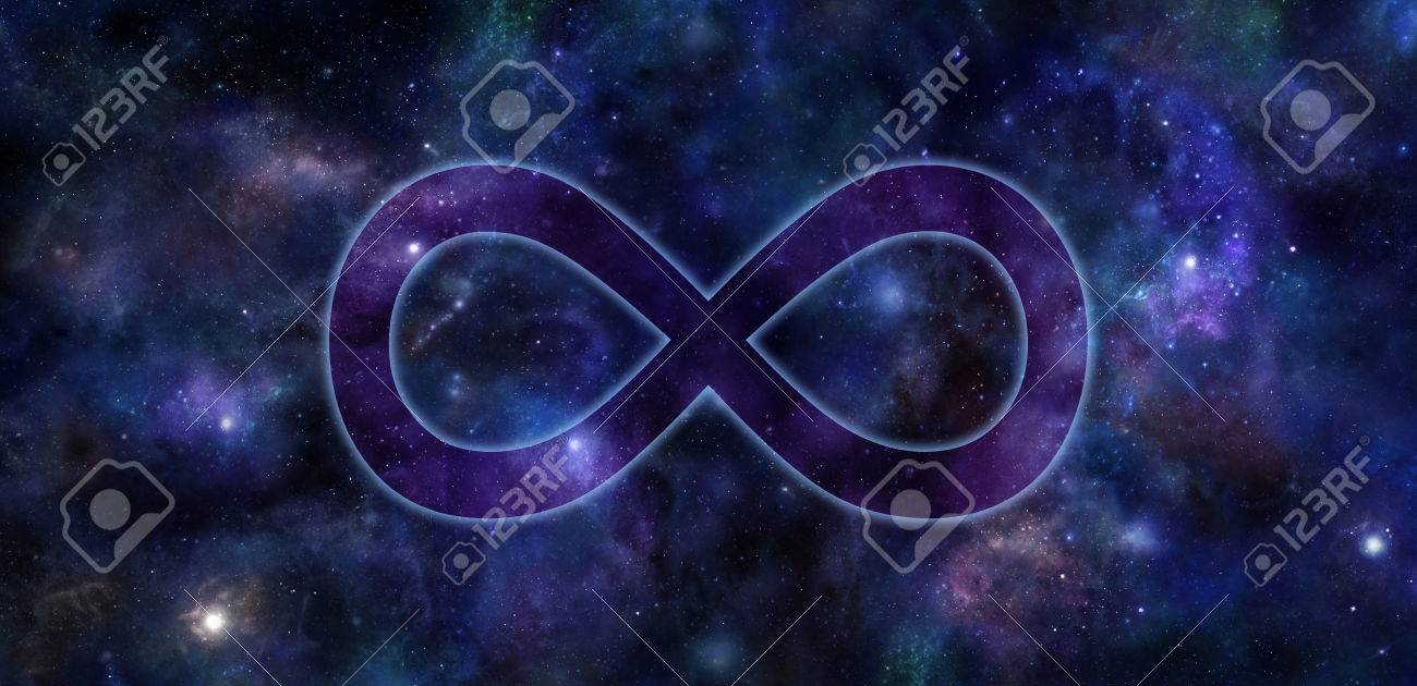 Infinity Symbol Deep Space Banner Transparent Slightly Glowing