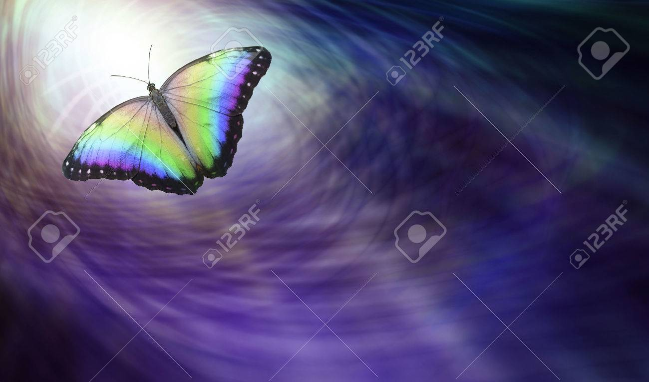 Symbolic spiritual release beautiful multicoloured butterfly symbolic spiritual release beautiful multicoloured butterfly moving into the light depicting a departing soul stock buycottarizona