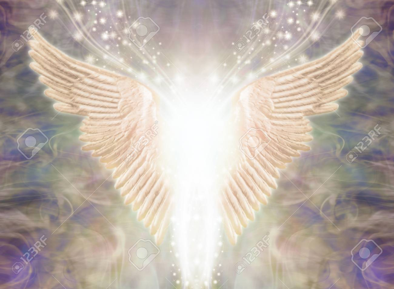 Angelic Light Being - Pair Of Angel Wings With Bright White Light.. Stock  Photo, Picture And Royalty Free Image. Image 118698956.