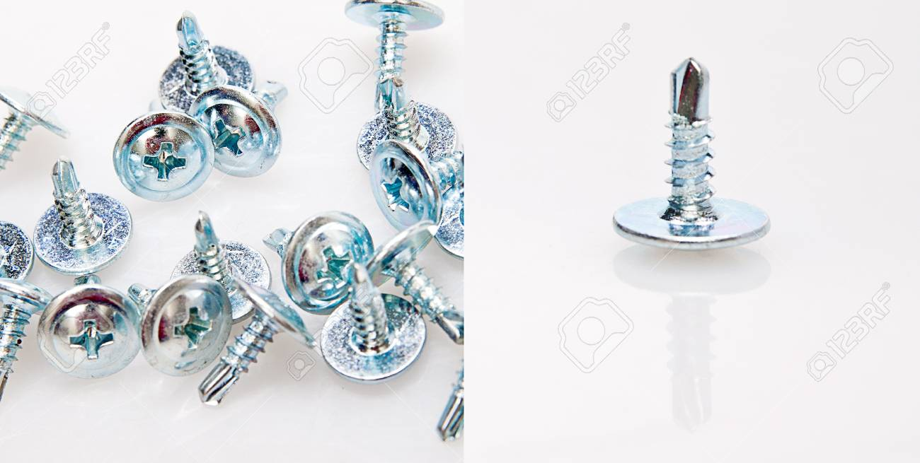 screw and a lot of screws in one picture Stock Photo - 13281772