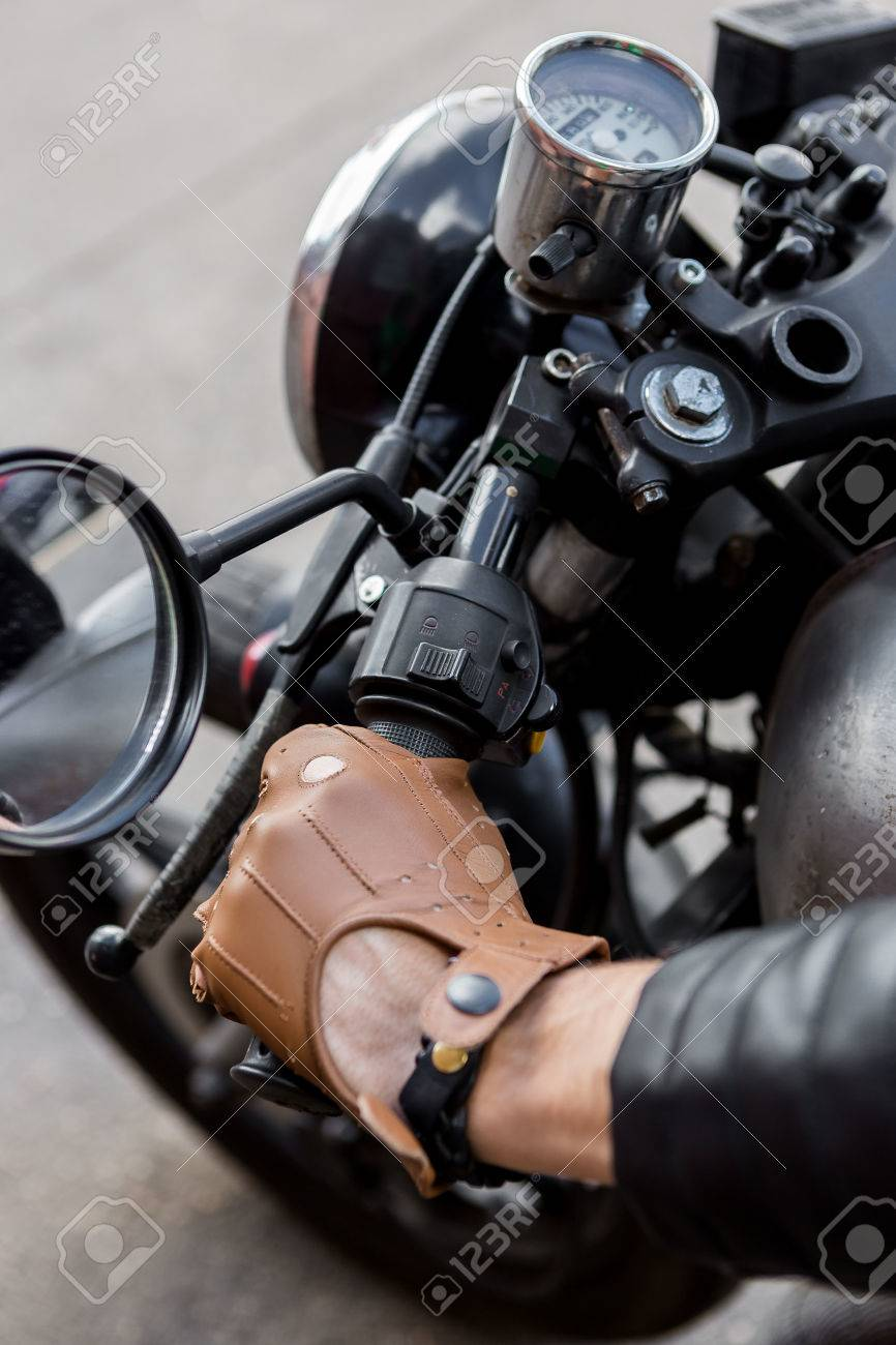 Motorcycle Leather Gloves Custom Cafe Racer Retro Motorcycle Gloves Retro Gloves