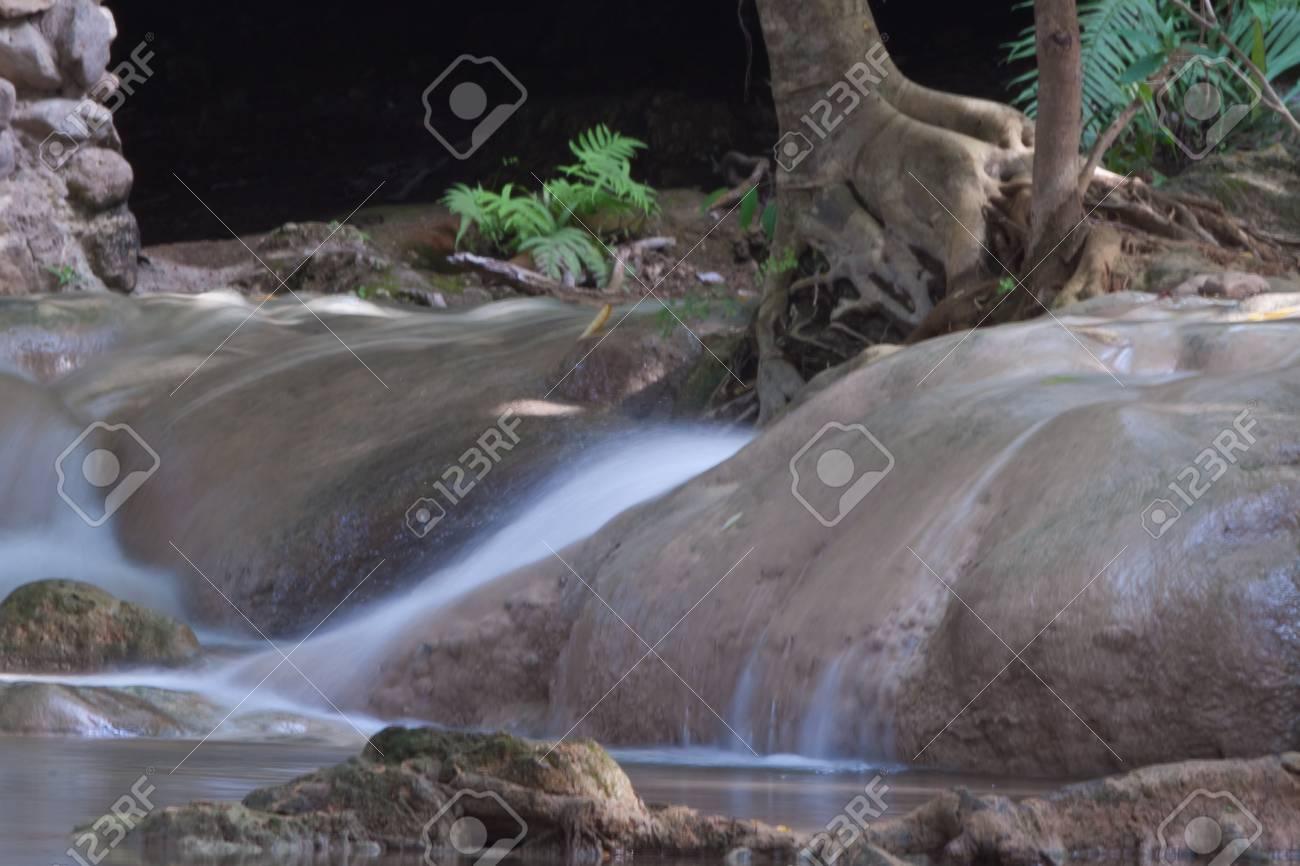Deep forest Waterfall in Kanchanaburi, Thailand Stock Photo - 17157329