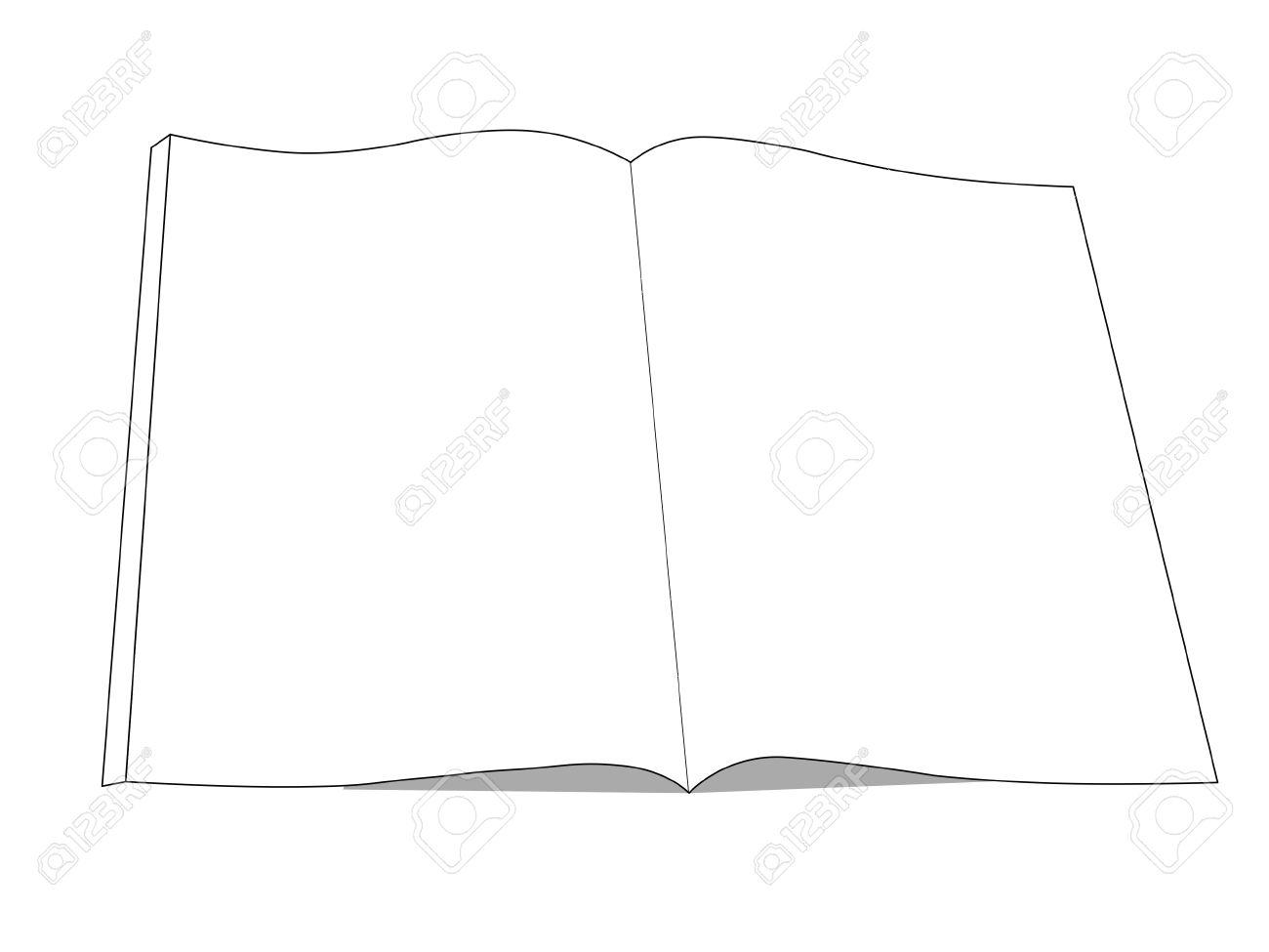 Dessin De Livre Icone Livre Ouvert Avec Isole Sur Blanc