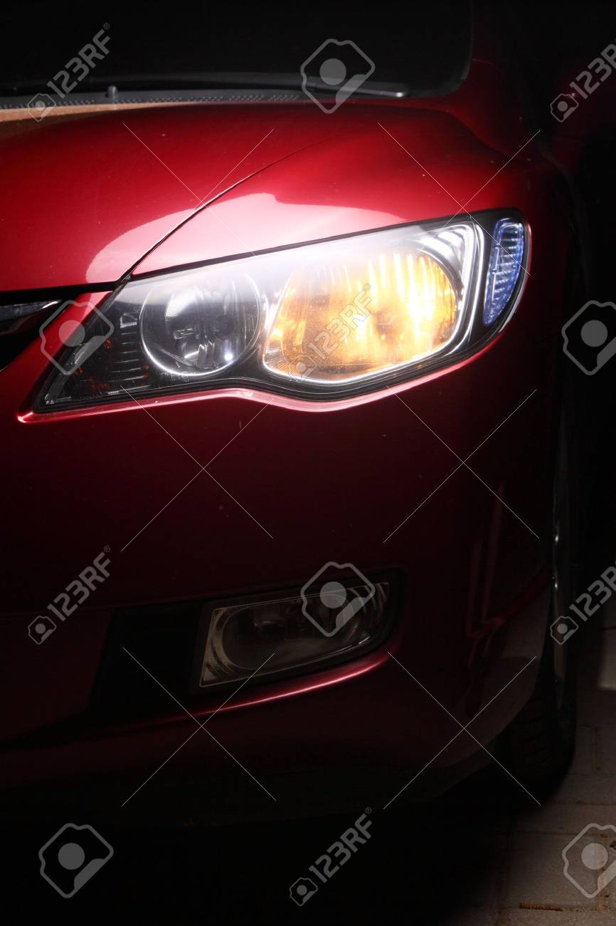 detail of a red sportscar Stock Photo - 4903865