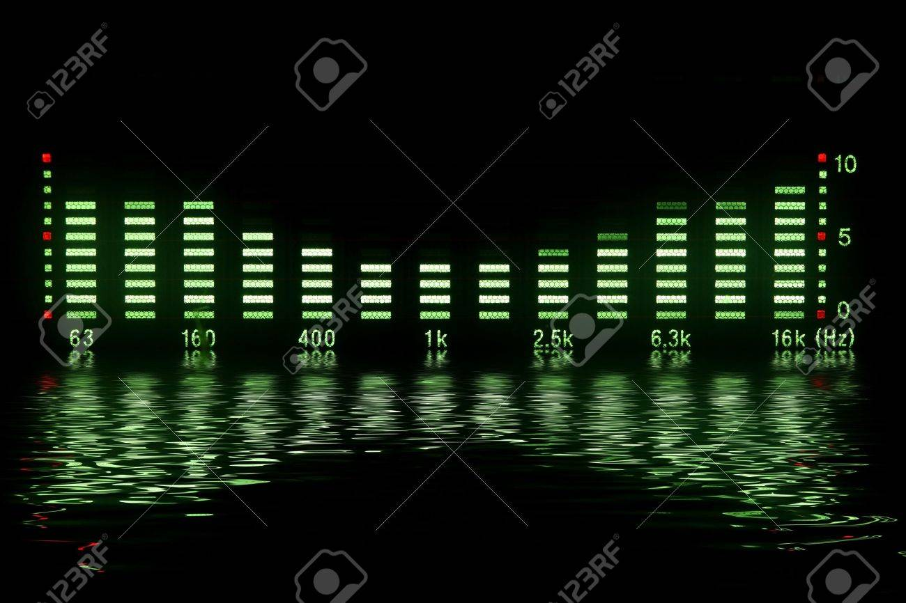 music waveform with reflection Stock Photo - 6346475