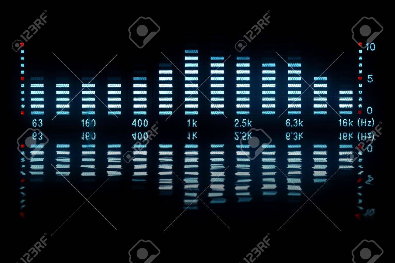 music waveform with reflection Stock Photo - 6347562