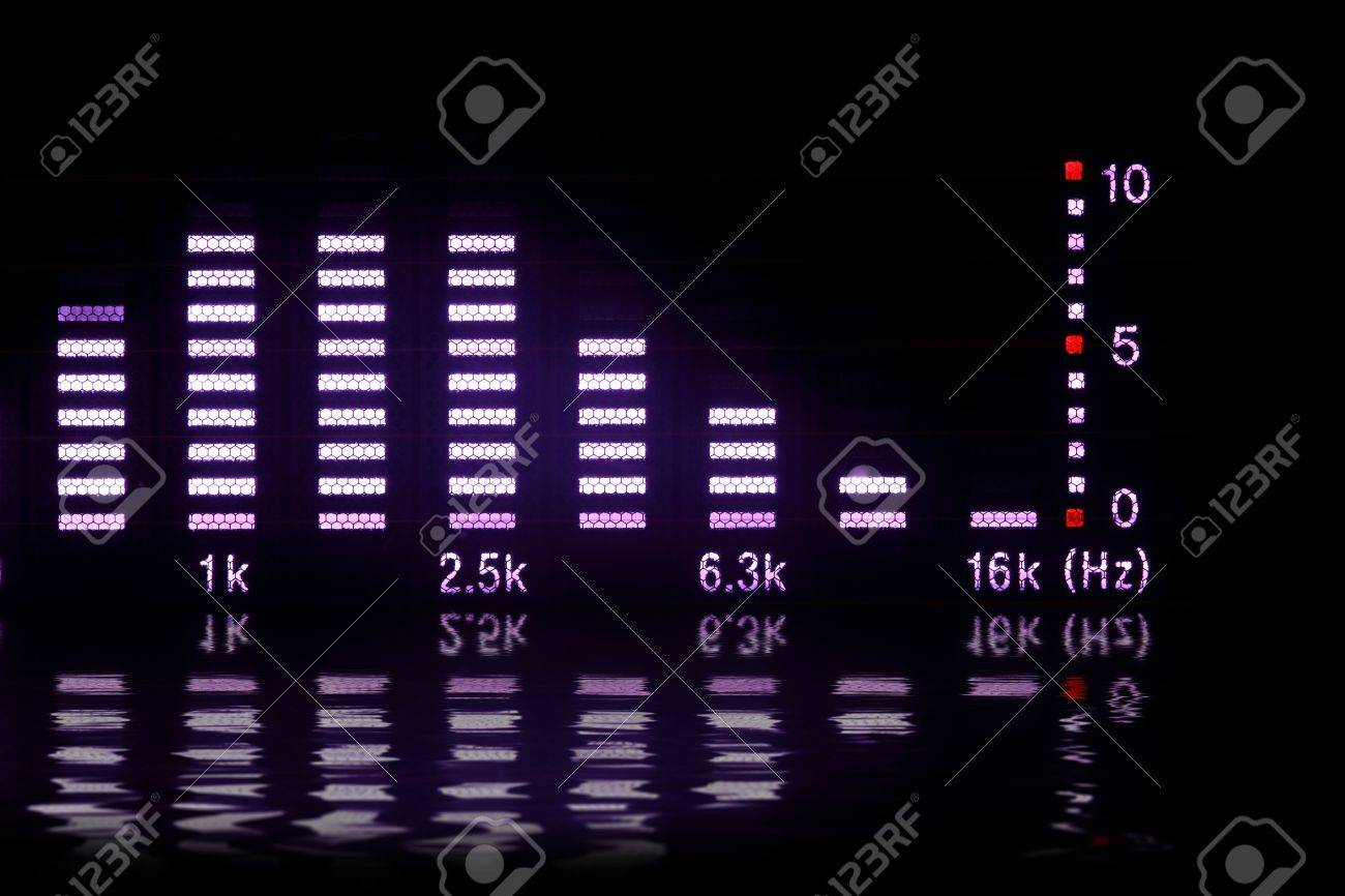 graphic equalizer with reflection Stock Photo - 6347473