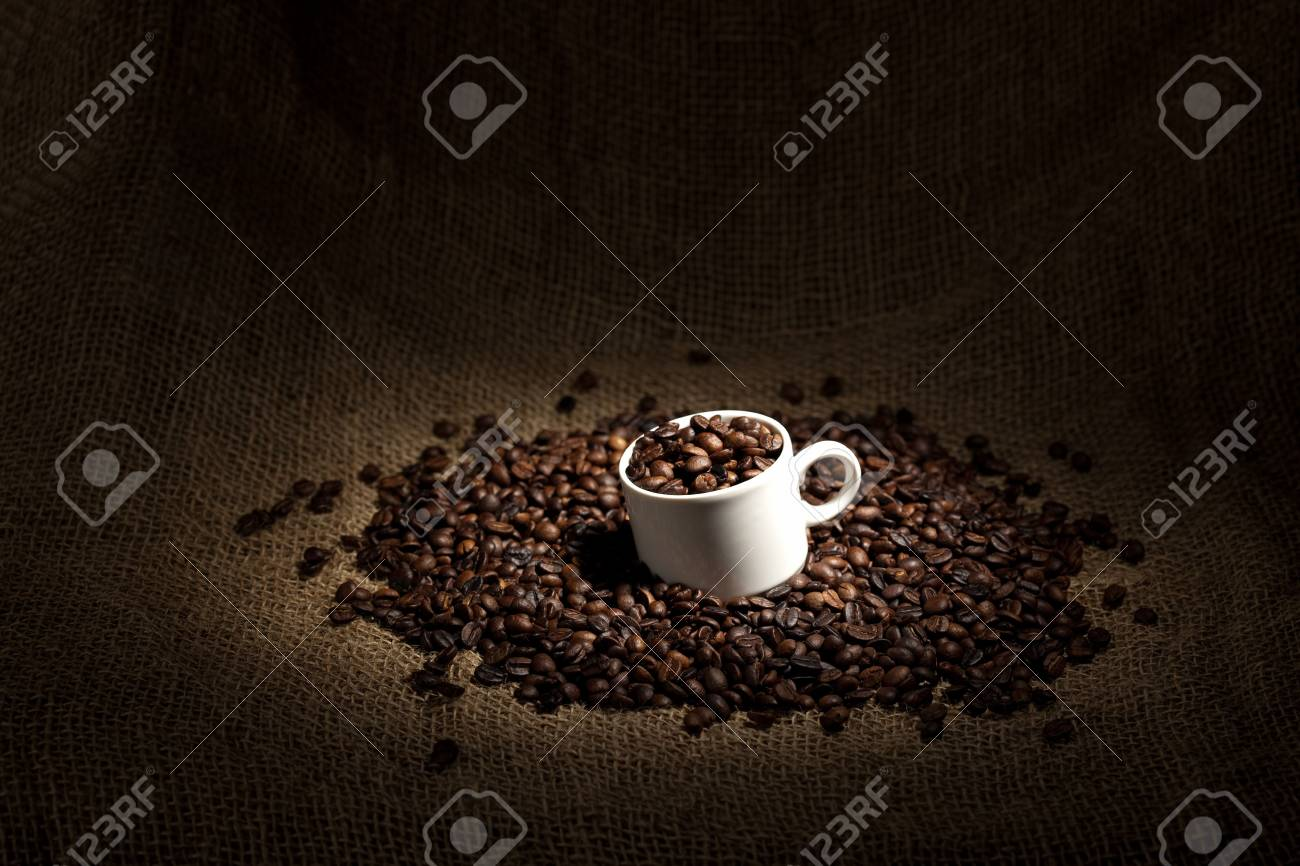 cup full of coffee beans Stock Photo - 6613616