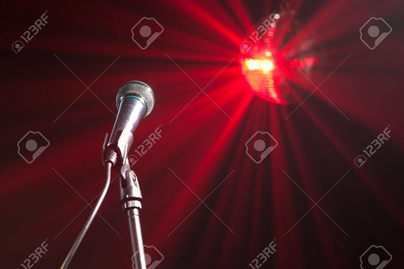 microphone on stage Stock Photo - 6930101