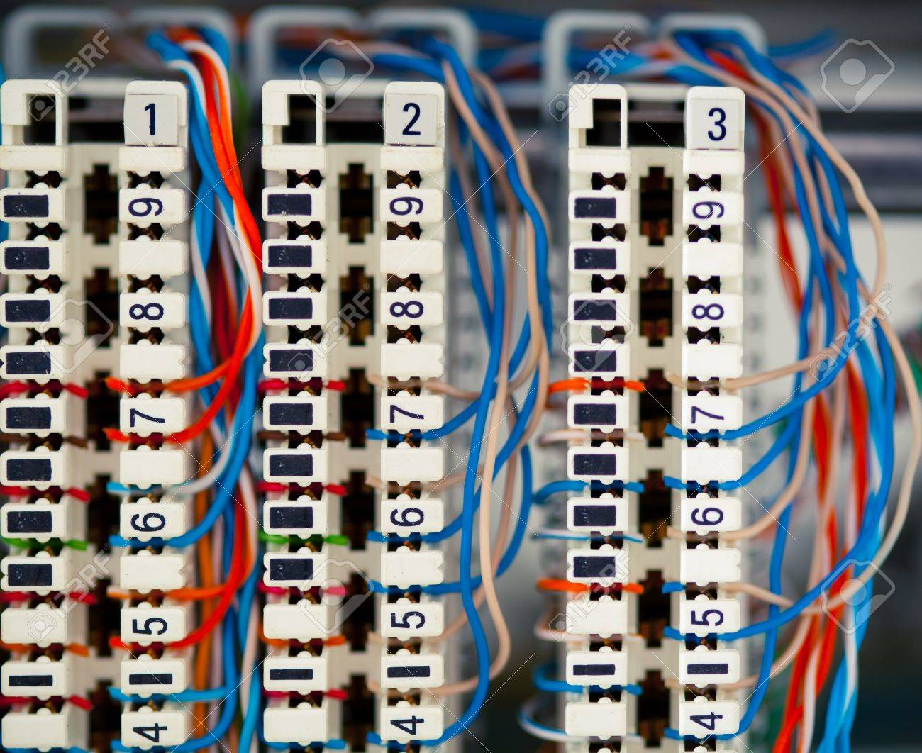 telephone switchboard panel with wires stock photo picture and rh 123rf com telephone patch panel wiring