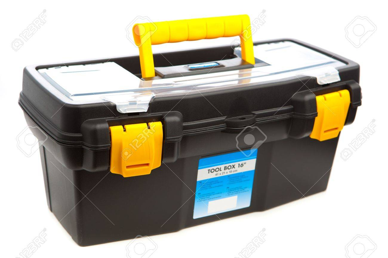 tool box isolated on white Stock Photo - 12983271