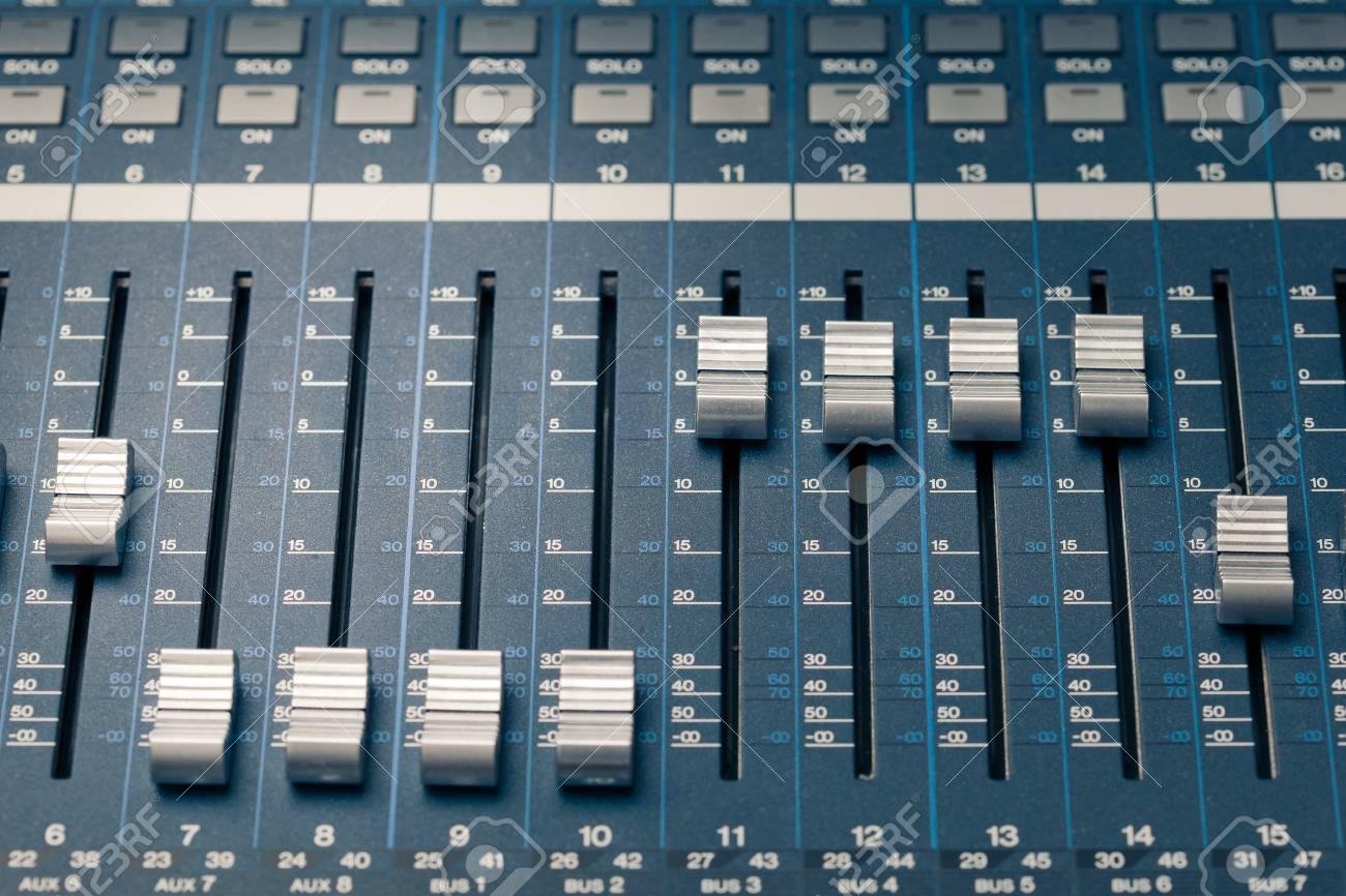 digital studio mixer faders Stock Photo - 14769158