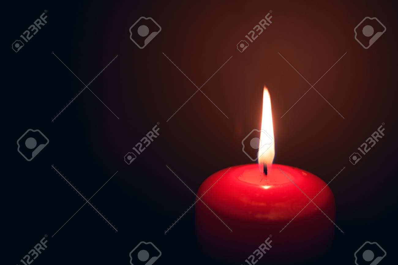 burning candle fire with copy-space Stock Photo - 17816289