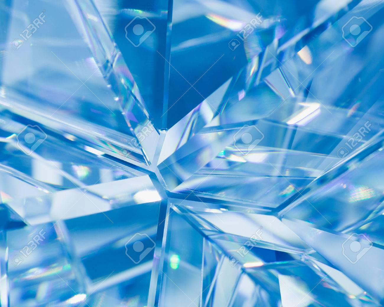 abstract blue background of crystal refractions - 44239411