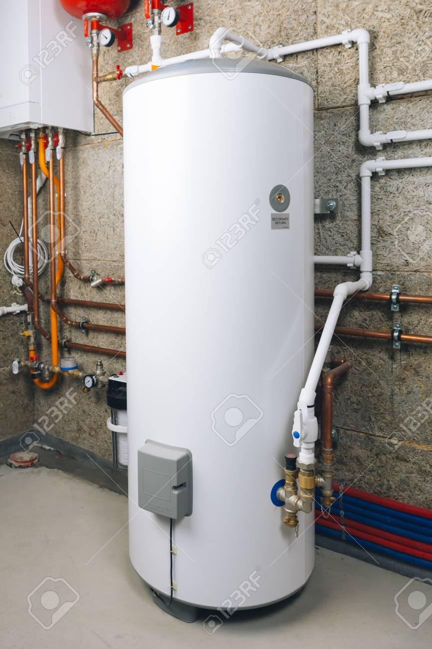 water heater in modern boiler room - 113831838