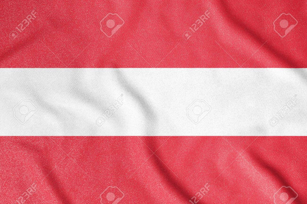 National flag of the Austria. The main symbol of an independent country. An attribute of the large size of a democratic state. - 151145428