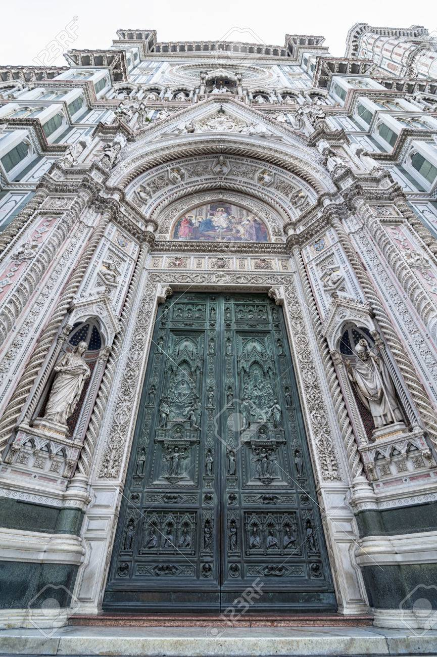 Florence Cathedral Door Stock Photo - 36929556 & Cathedral Doors Florence \u0026 Florence Italy - The Doors Of The ... Pezcame.Com