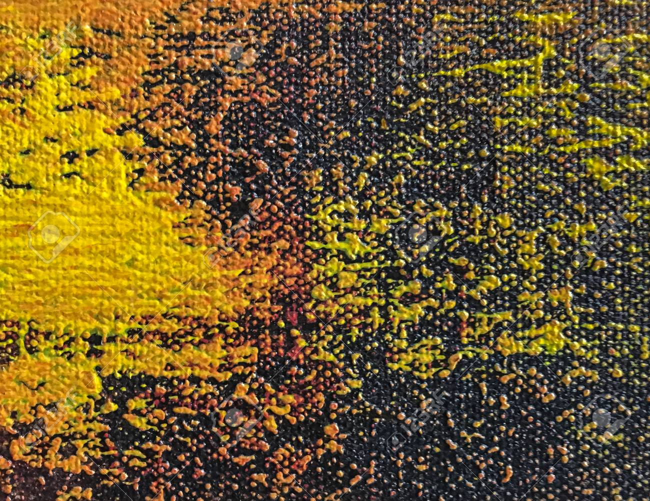 Abstract Art Background Orange And Black Colors Multicolor Oil