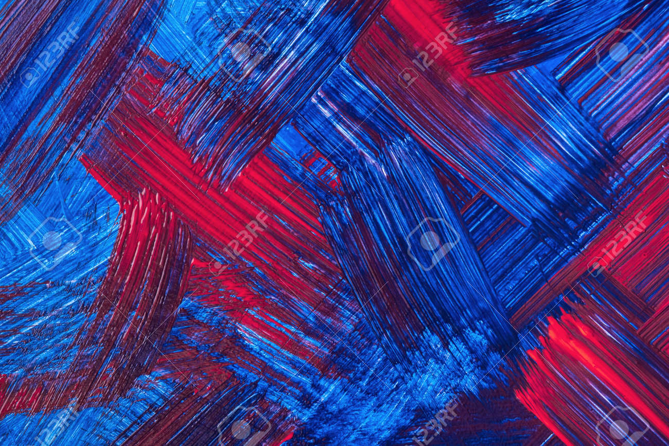 Abstract art background dark red and navy blue colors. Watercolor painting on canvas with sapphire strokes and splash. Acrylic artwork on paper with brushstroke pattern. Texture backdrop. - 169498857