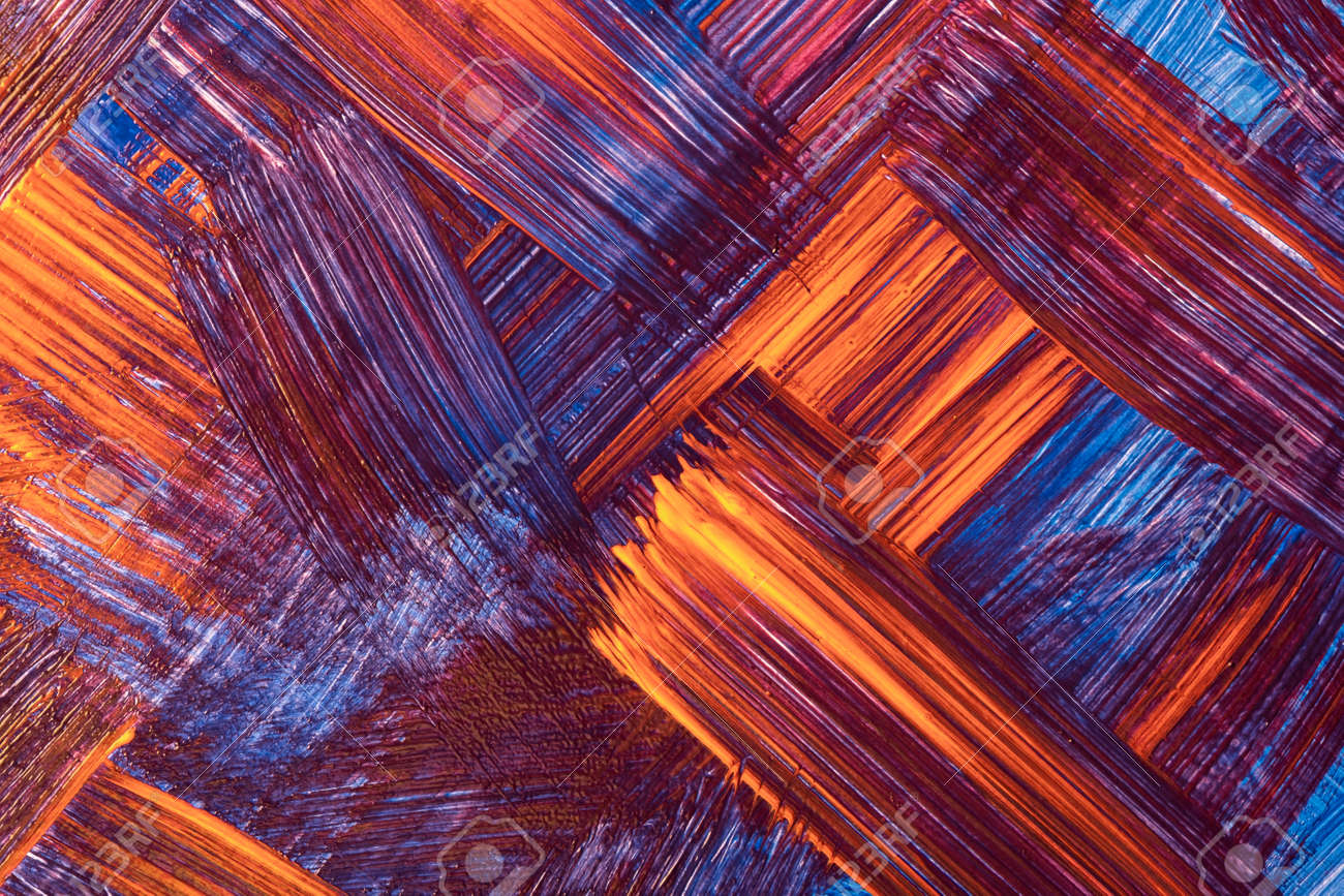Abstract art background dark red and navy blue colors. Watercolor painting on canvas with orange strokes and splash. Acrylic artwork on paper with brushstroke pattern. Texture backdrop. - 169499170