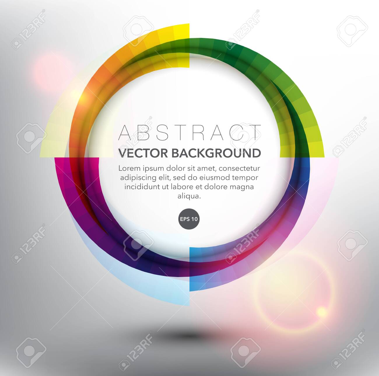 Abstract vector background. Colorful geometric background. Can be used for poster, brochure, flyer and advertisement material. Vector illustration. Eps10. - 141957904