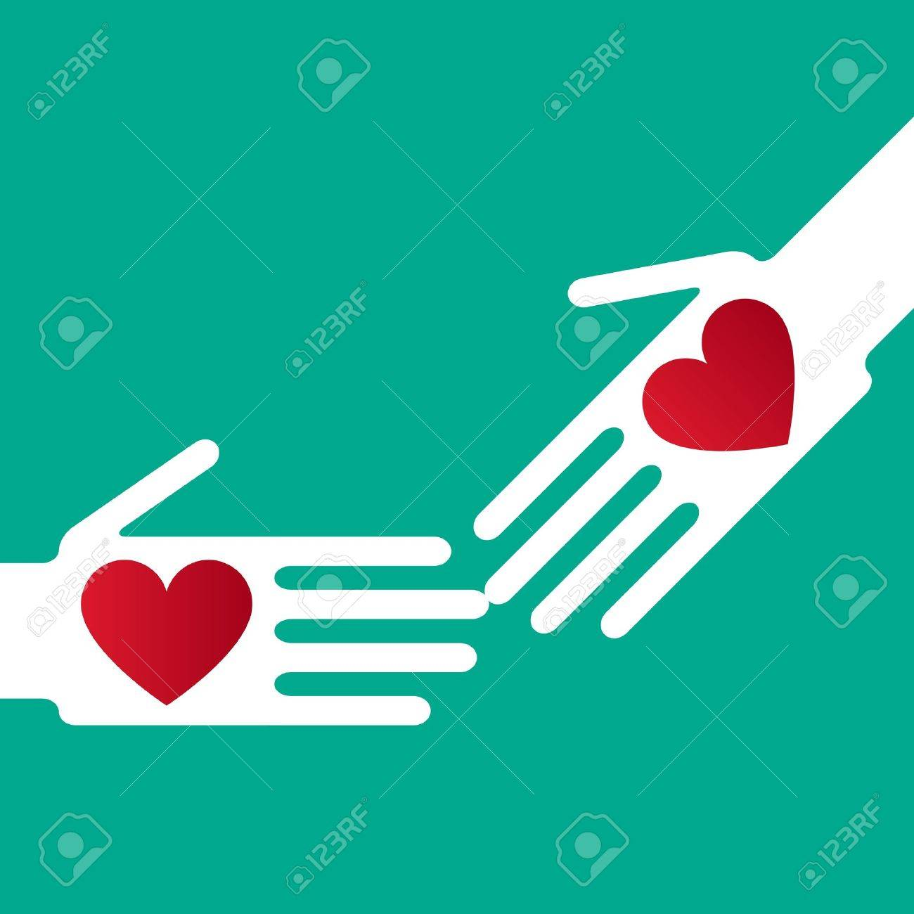 Silhouette helping hand whit Helping Hand Icon