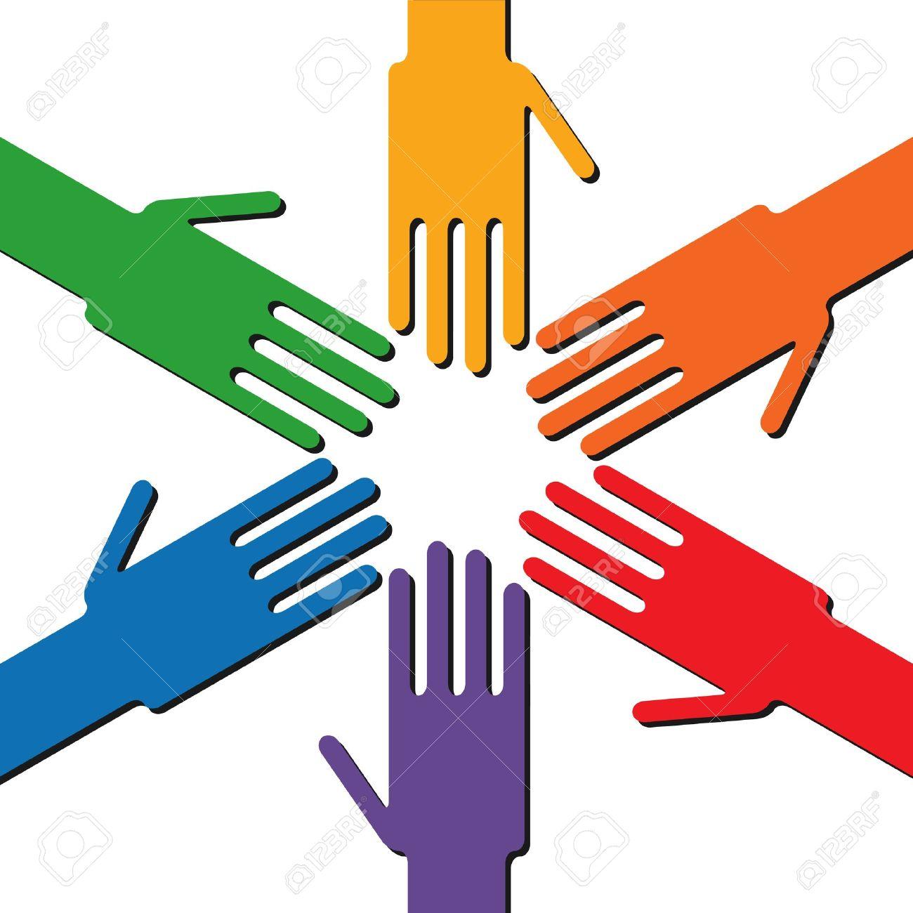 Rainbow hands Stock Vector - 12208519