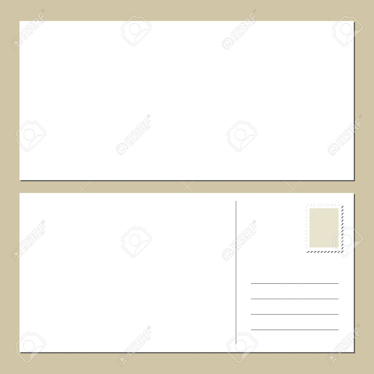 Blank Postcard Front Back Royalty Free Cliparts, Vectors, And ...
