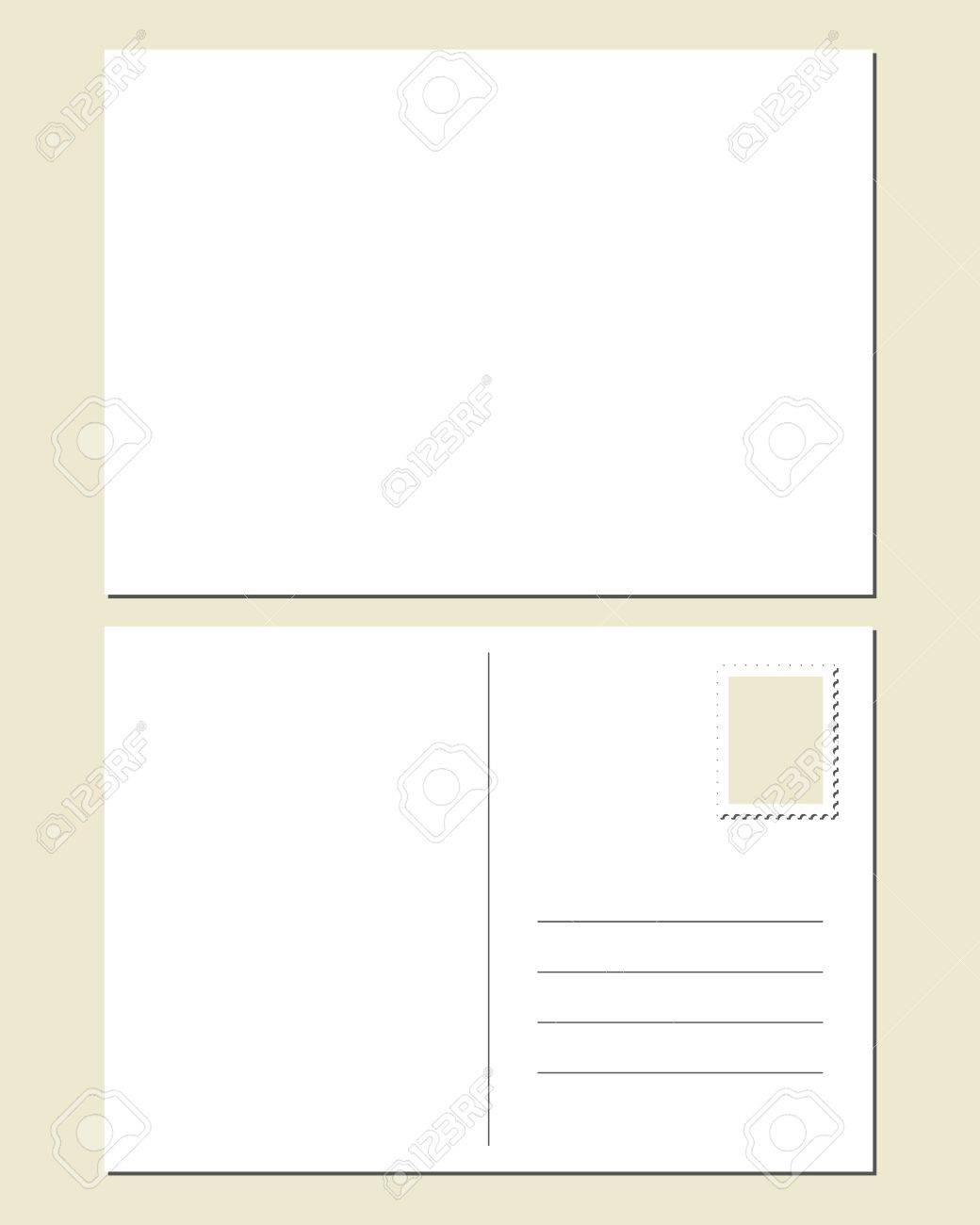 Blank Postcard Front Back