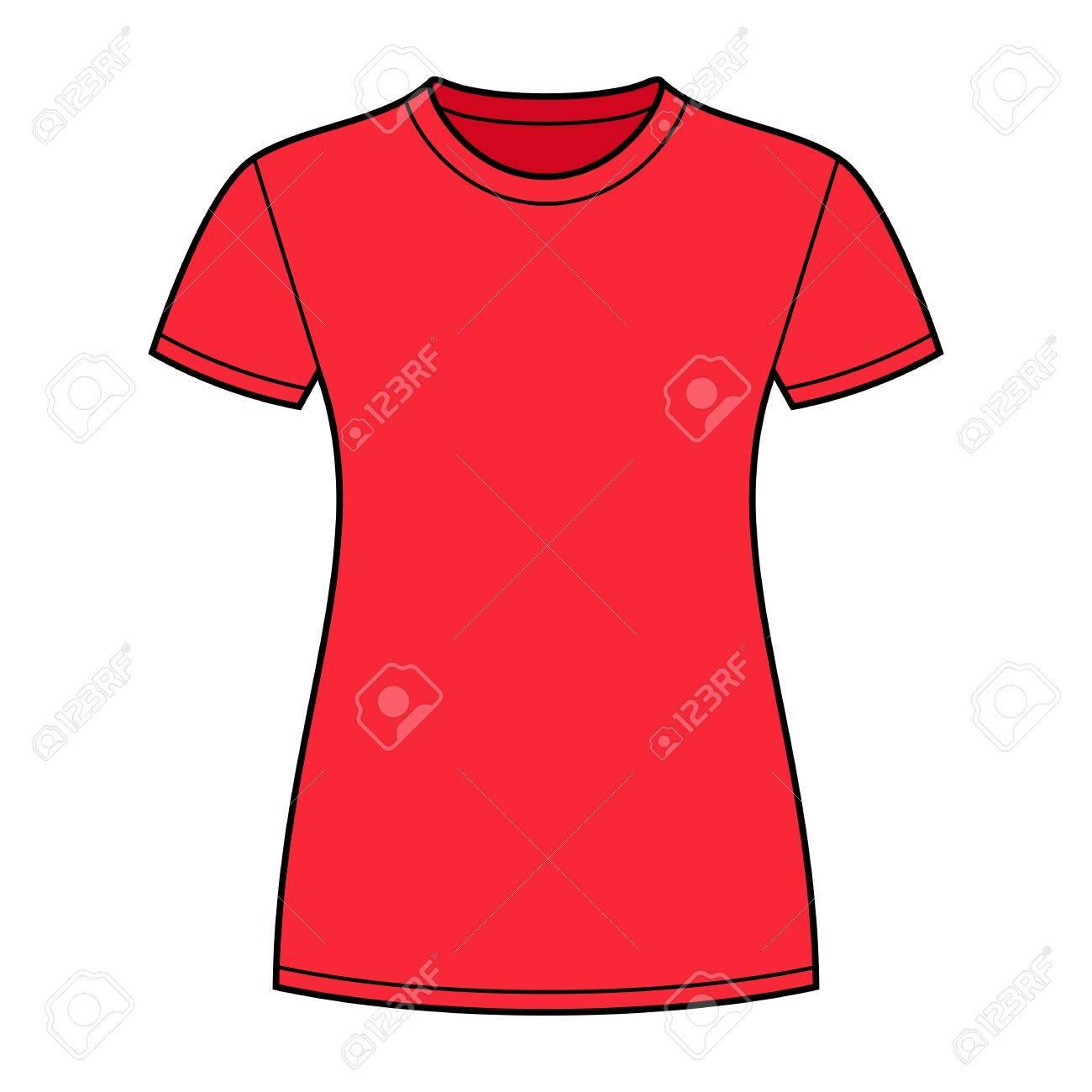 T shirt design red - Red T Shirt Design Template Stock Vector 14087049