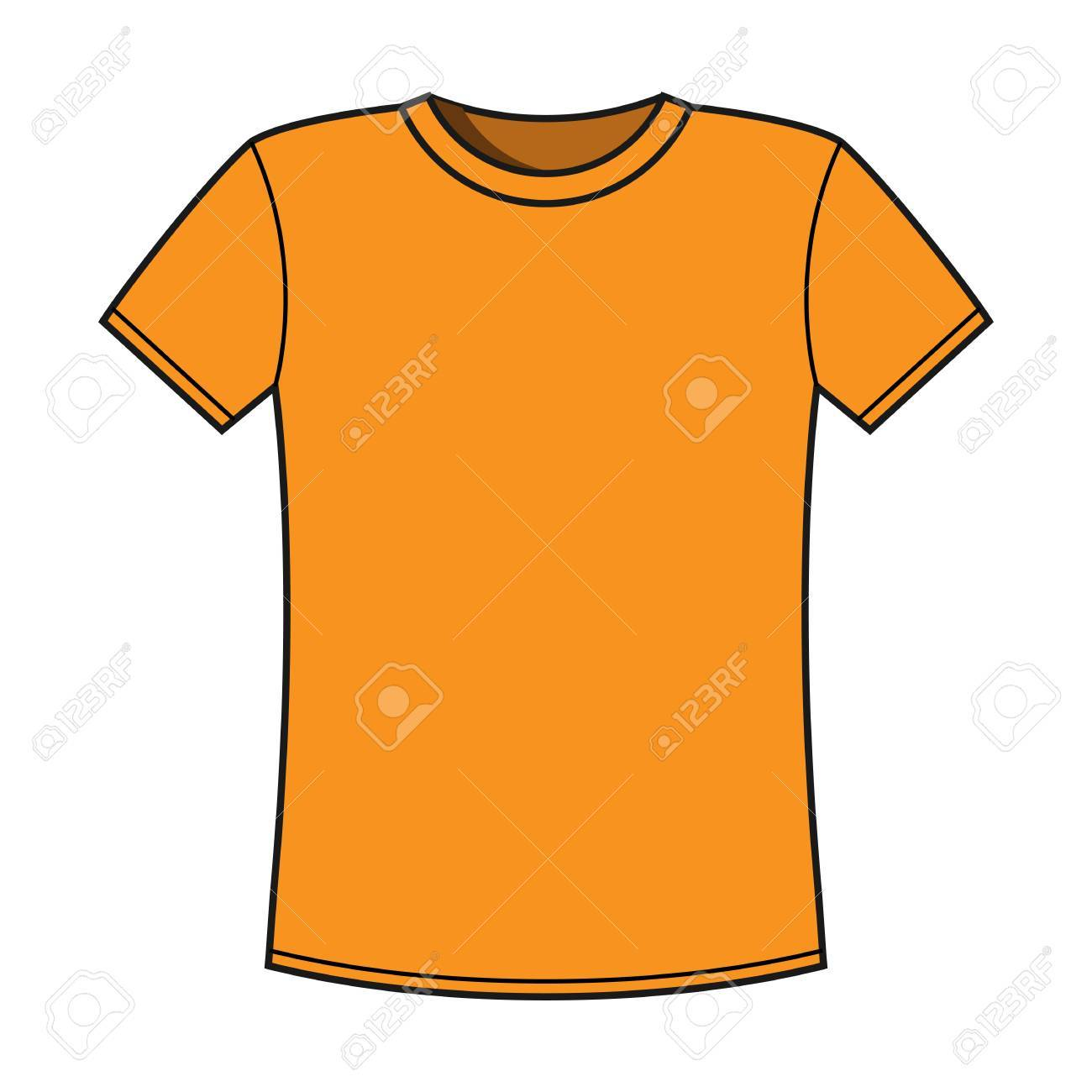 Blank Yellow T-shirt Template Royalty Free Cliparts, Vectors, And ...