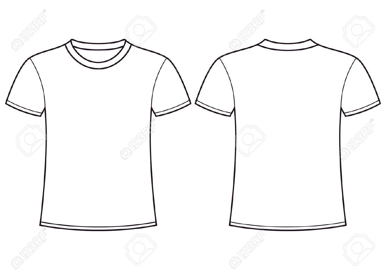 Blank T-Shirt Schablone Vorder-und Rückseite Lizenzfrei Nutzbare ...