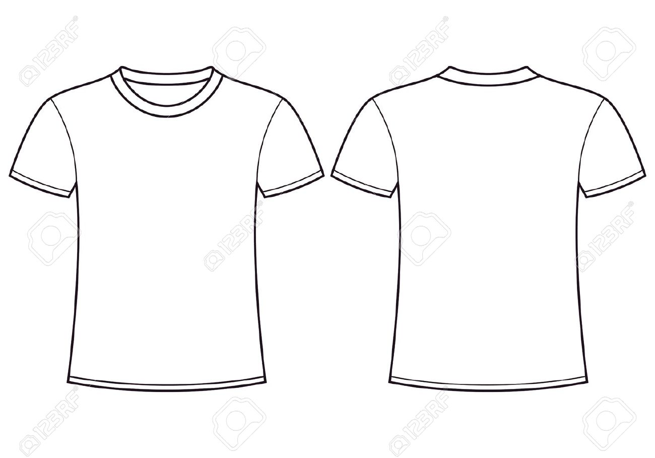 Blank T-shirt Template Front And Back Royalty Free Cliparts, Vectors ...