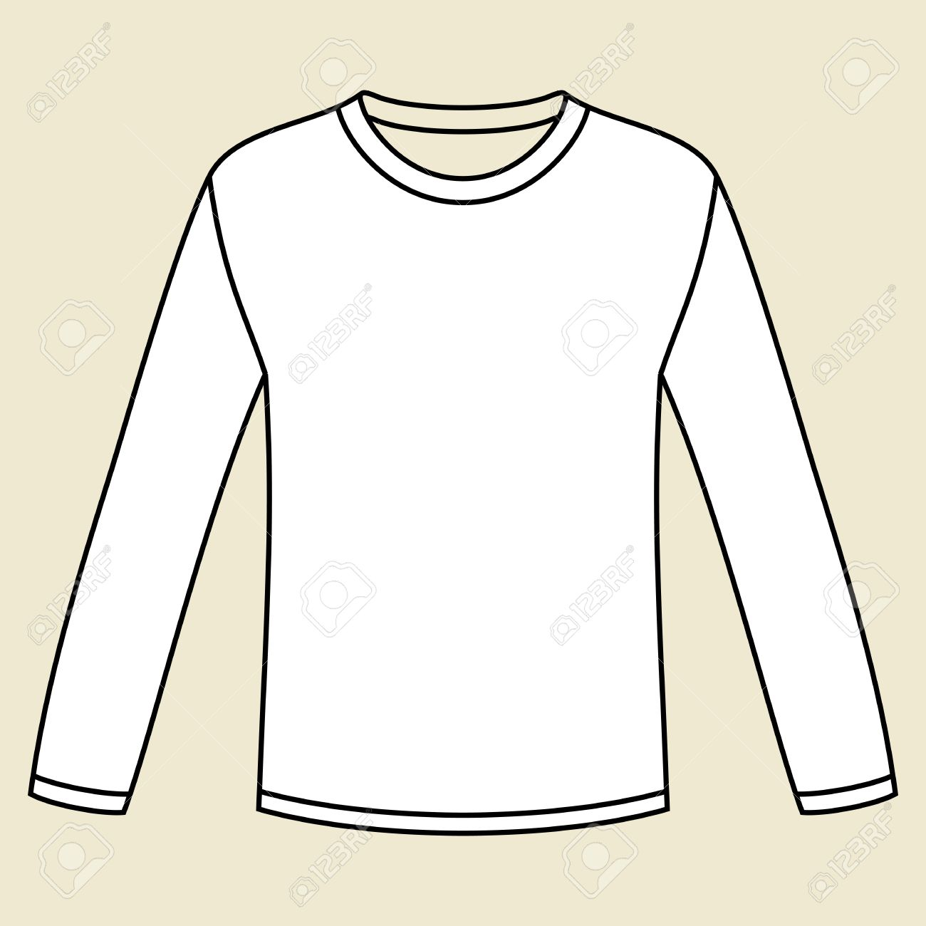 Black Long Sleeved T Shirt Template Royalty Free Cliparts Vectors