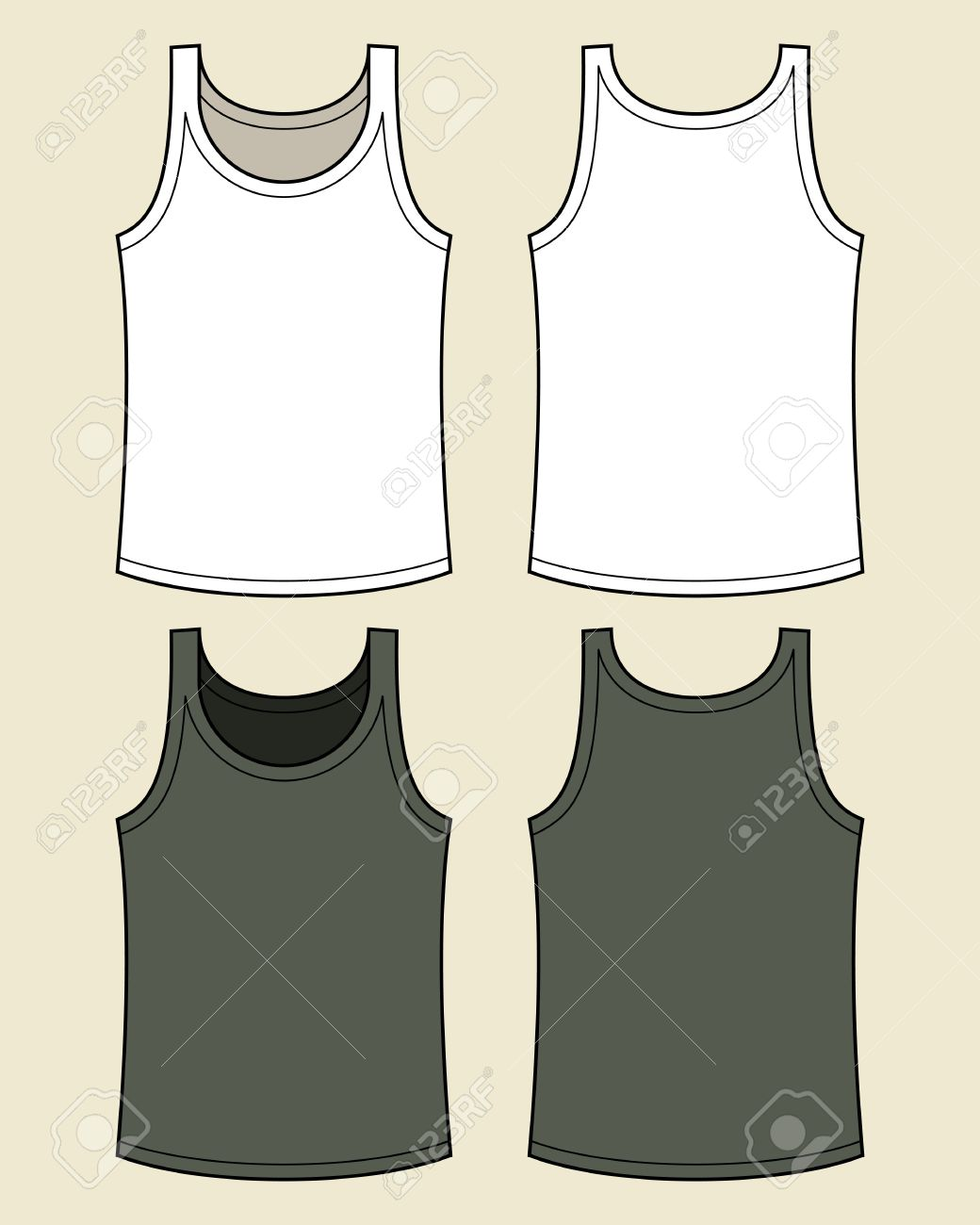 Blank singlet template royalty free cliparts vectors and stock blank singlet template stock vector 14742673 pronofoot35fo Images