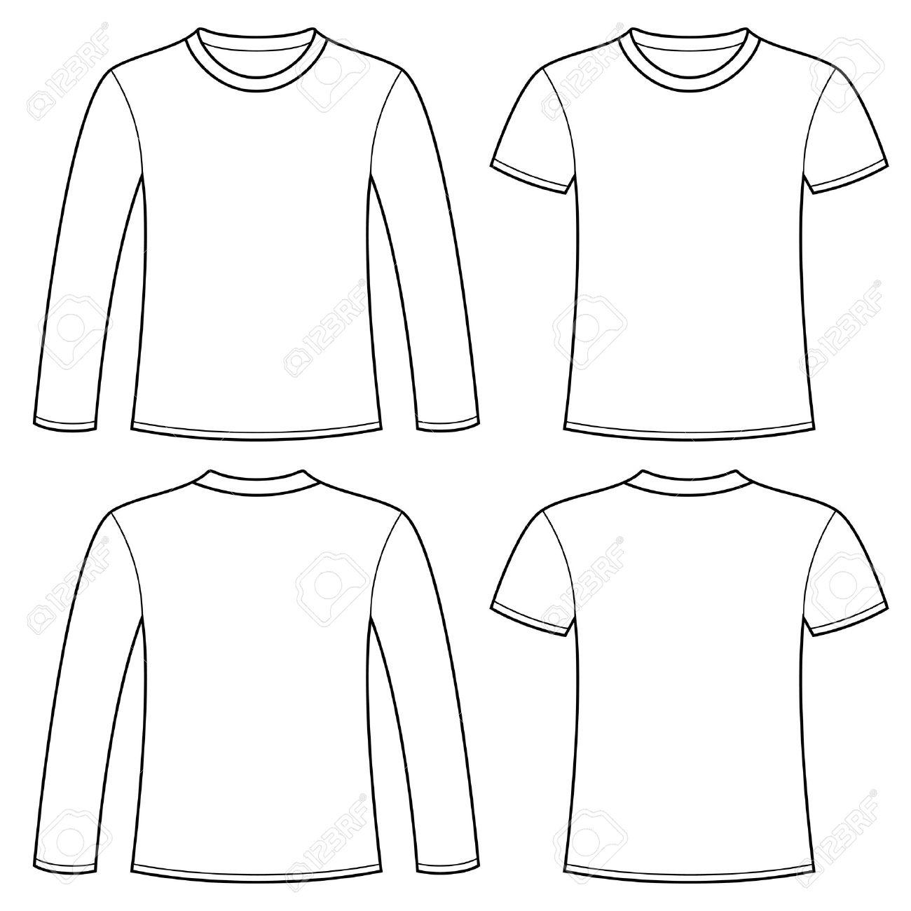 長袖 t シャツと t シャツ テンプレート ロイヤリティフリークリップ