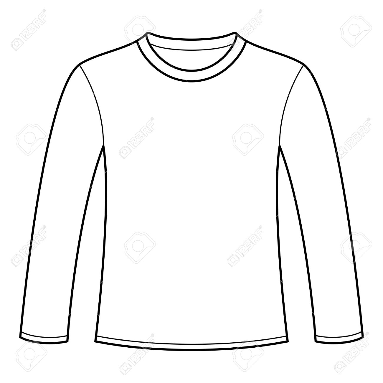 Long Sleeved T Shirt Template Royalty Free Cliparts Vectors And