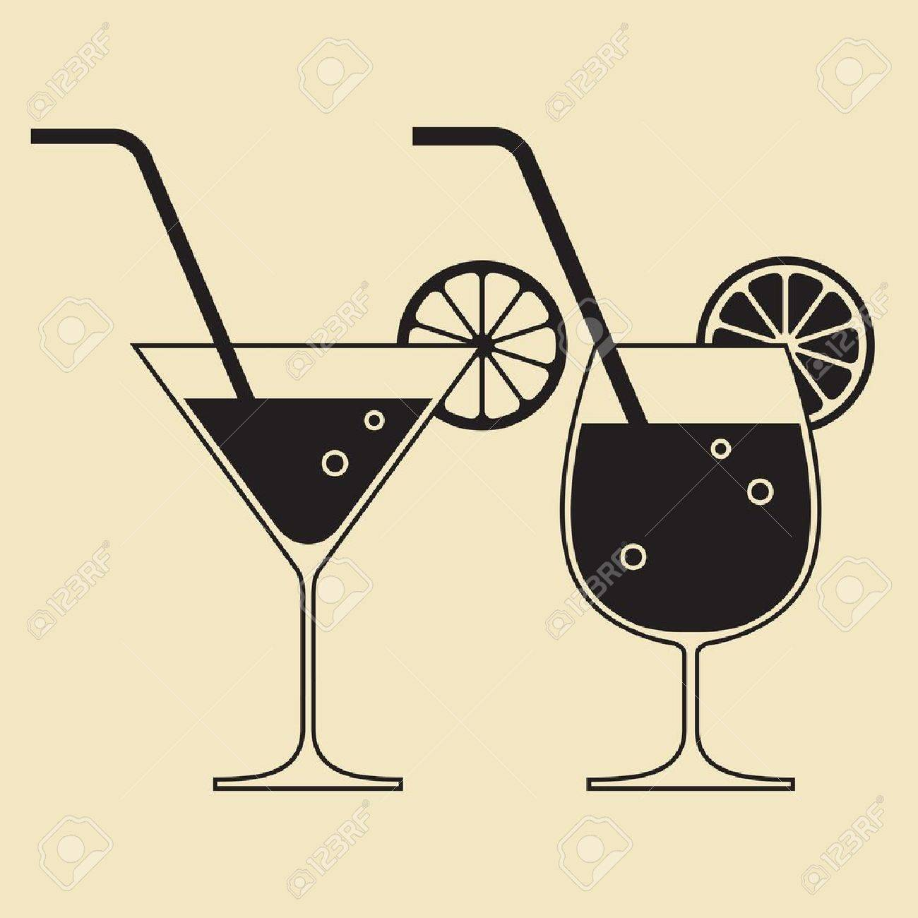 Cocktail glasses Stock Vector - 15476282