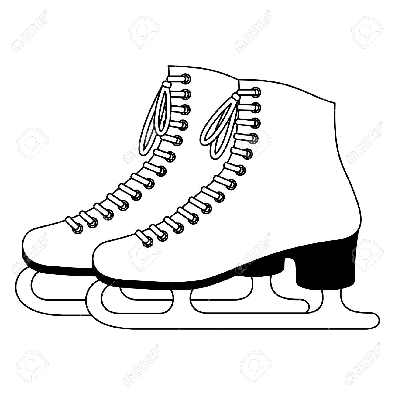 ice skates royalty free cliparts vectors and stock illustration rh 123rf com ice skate clip art free ice skate shoes clip art