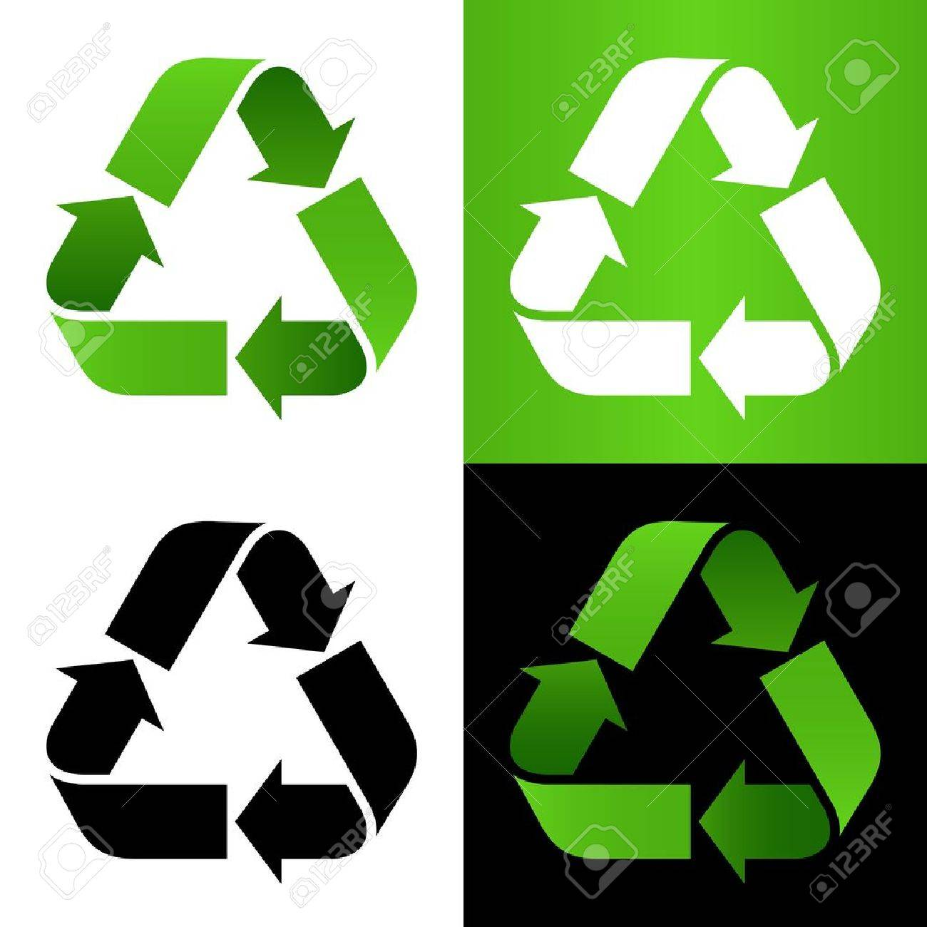 Set of recycle sign Stock Vector - 17610206