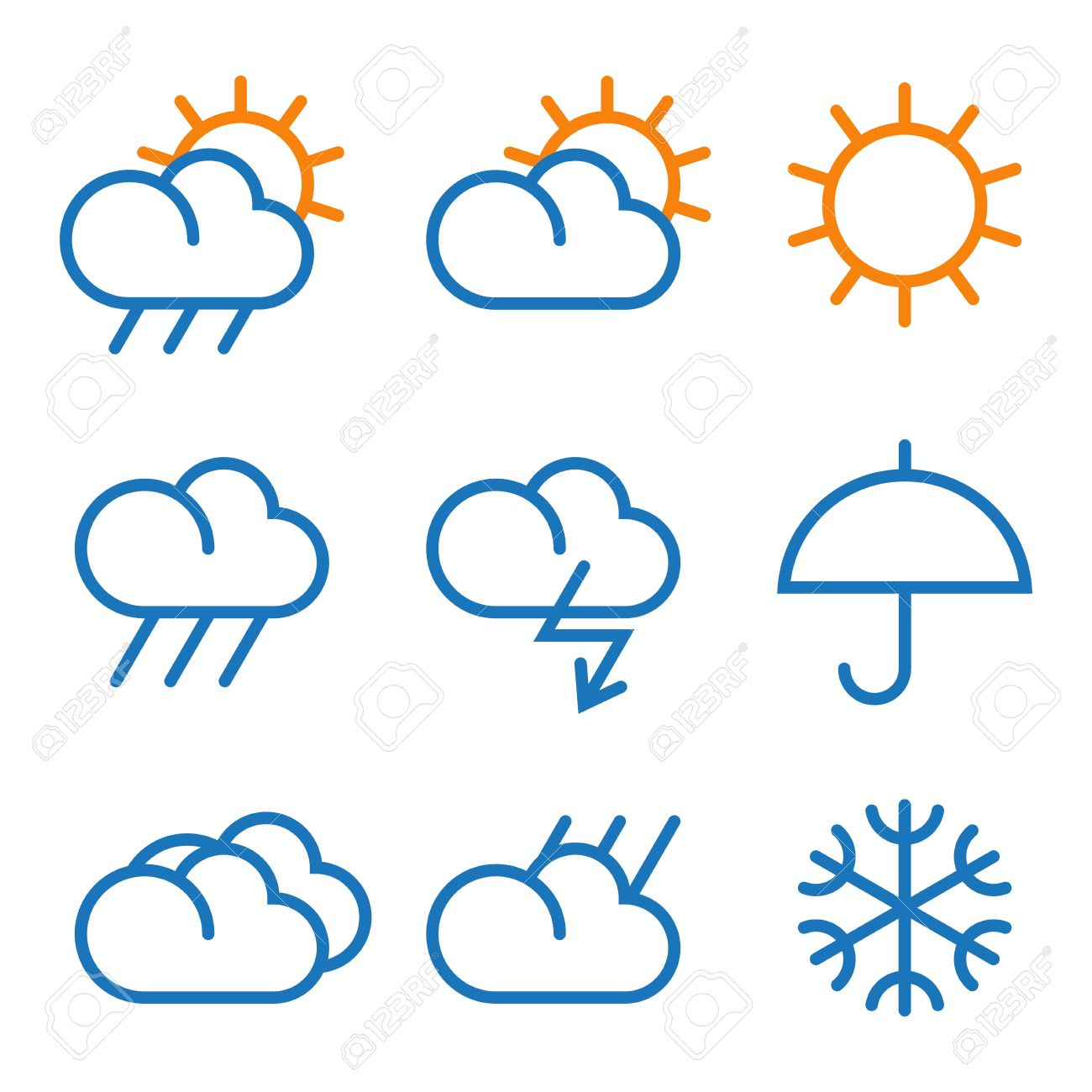 Weather Symbols Royalty Free Cliparts Vectors And Stock