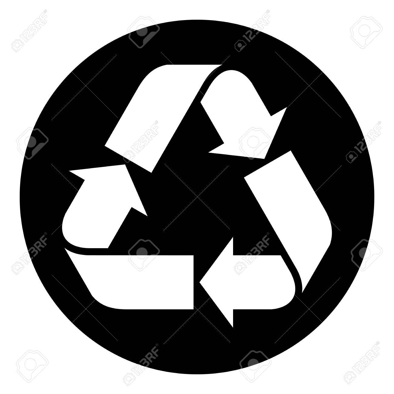 Recycled paper symbol Stock Vector - 18758548
