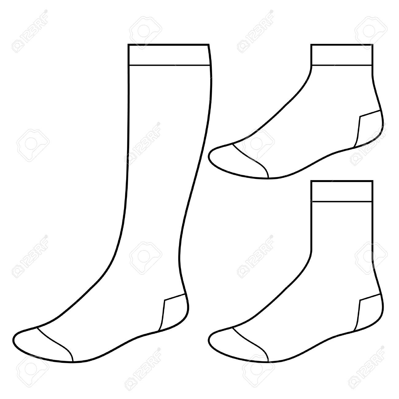 Set of blank socks - 19589445